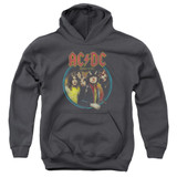 AC/DC Highway To Hell Youth Pullover Hoodie Sweatshirt Charcoal