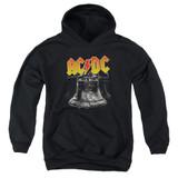 AC/DC Hells Bells Youth Pullover Hoodie Sweatshirt Black