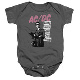 AC/DC Dirty Deeds Baby Onesie T-Shirt Charcoal