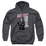 AC/DC Dirty Deeds Youth Pullover Hoodie Sweatshirt Charcoal