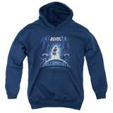 AC/DC Ballbreaker Youth Pullover Hoodie Sweatshirt Navy
