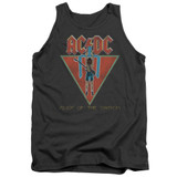 AC/DC Flick Of The Switch Adult Tank Top T-Shirt Charcoal