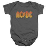 AC/DC Logo Baby Onesie T-Shirt Charcoal
