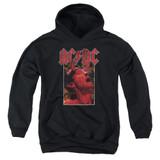AC/DC Horns Youth Pullover Hoodie Sweatshirt Black