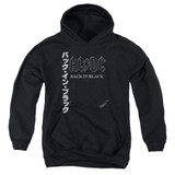 AC/DC Back In The Day Kanji Youth Pullover Hoodie Sweatshirt Black