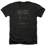 AC/DC Rock Label Adult Heather T-Shirt Black