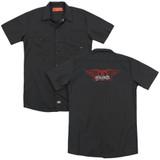 Aerosmith Winged Logo(Back Print) Adult Work T-Shirt Black