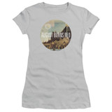 August Burns Red Far Away Places Junior Women's Sheer T-Shirt Silver