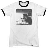 Billy Joel The Stranger Adult Ringer T-Shirt White/Black
