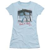 Billy Joel Glass Houses Junior Women's Sheer T-Shirt Light Blue