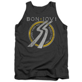 Bon Jovi Slippery When Wet World Tour Adult Tank Top T-Shirt Charcoal