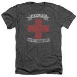 Bon Jovi Bad Medicine Adult Heather T-Shirt Charcoal