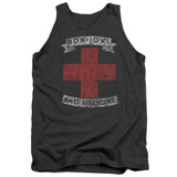 Bon Jovi Bad Medicine Adult Tank Top T-Shirt Charcoal
