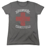 Bon Jovi Bad Medicine Women's T-Shirt Charcoal