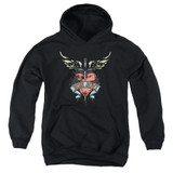 Bon Jovi Daggered Youth Pullover Hoodie Sweatshirt Black