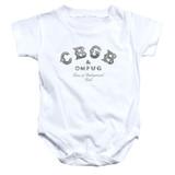 CBGB Club Logo Baby Onesie T-Shirt White