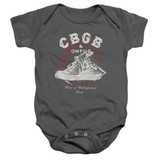 CBGB High Tops Baby Onesie T-Shirt Charcoal
