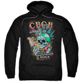 CBGB City Mowhawk Adult Pullover Hoodie Sweatshirt Black