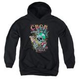 CBGB City Mowhawk Youth Pullover Hoodie Sweatshirt Black