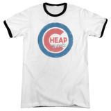 Cheap Trick Cheap Cub Adult Ringer T-Shirt White/Black