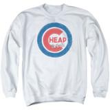 Cheap Trick Cheap Cub Adult Crewneck Sweatshirt White