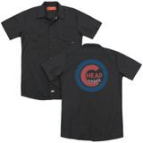 Cheap Trick Cheap Cub  (Back Print) Adult Work Shirt Black