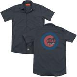 Cheap Trick Cheap Cub  (Back Print) Adult Work Shirt Charcoal