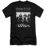 Cheap Trick Cheap Trick Bikes Premuim Canvas Adult Slim Fit T-Shirt Black