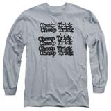 Cheap Trick Cheap Trick Logo Adult Long Sleeve T-Shirt Athletic Heather