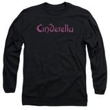 Cinderella Logo Rough Adult Long Sleeve T-Shirt Black