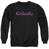 Cinderella Logo Rough Adult Crewneck Sweatshirt Black