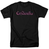 Cinderella Logo Rough Adult 18/1 T-Shirt Black