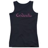 Cinderella Logo Rough Junior Women's Tank Top T-Shirt Black