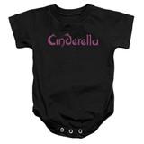 Cinderella Logo Rough Baby Onesie T-Shirt Black