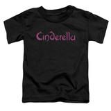 Cinderella Logo Rough Toddler T-Shirt Black