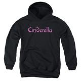 Cinderella Logo Rough Youth Pullover Hoodie Sweatshirt Black