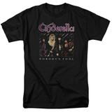 Cinderella Nobody's Fool Adult 18/1 T-Shirt Black