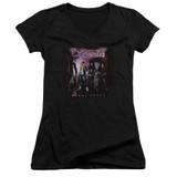 Cinderella Night Songs Junior Women's V-Neck T-Shirt Black