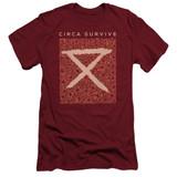 Circa Survive Floral Adult 30/1 T-Shirt Cardinal