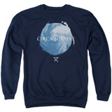 Circa Survive Storm Adult Crewneck Sweatshirt Navy