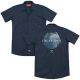Circa Survive Storm (Back Print) Adult Work Shirt Navy