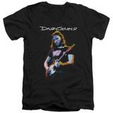 David Gilmour Guitar Gilmour Adult V-Neck T-Shirt Black