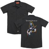 David Gilmour Guitar Gilmour (Back Print) Adult Work Shirt Black
