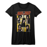 Bon Jovi Livin' On A Prayer Black Junior Women's T-Shirt