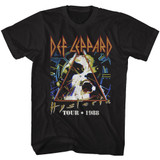 Def Leppard Tour '88 Black Adult T-Shirt