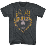 Journey Evolution 79' Black Heather Adult T-Shirt