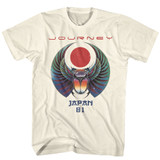 Journey Japan '81 Natural Adult T-Shirt