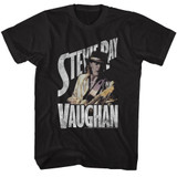 Stevie Ray Vaughan Ol' Steve Black Adult T-Shirt