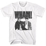 Wham Black and White Poster White Adult T-Shirt
