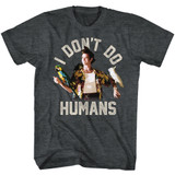 Ace Ventura Don't Do Humans Black Heather T-Shirt